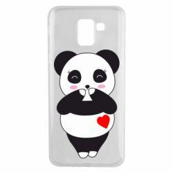 Чохол для Samsung J6 Cute panda