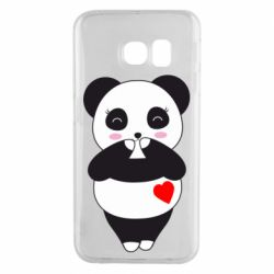 Чохол для Samsung S6 EDGE Cute panda