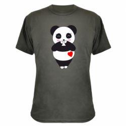 Камуфляжна футболка Cute panda