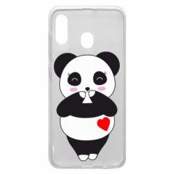 Чохол для Samsung A20 Cute panda