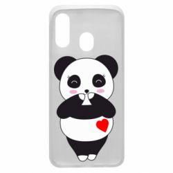 Чохол для Samsung A40 Cute panda