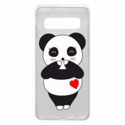 Чохол для Samsung S10 Cute panda