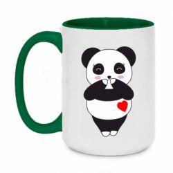 Кружка двоколірна 420ml Cute panda