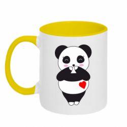 Кружка двоколірна 320ml Cute panda