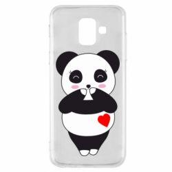 Чохол для Samsung A6 2018 Cute panda
