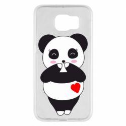 Чохол для Samsung S6 Cute panda