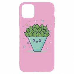 Чехол для iPhone 11 Pro Max Cute pot with a bush