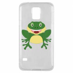 Чехол для Samsung S5 Cute toad