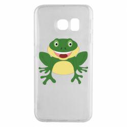 Чехол для Samsung S6 EDGE Cute toad