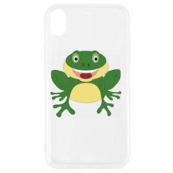 Чехол для iPhone XR Cute toad