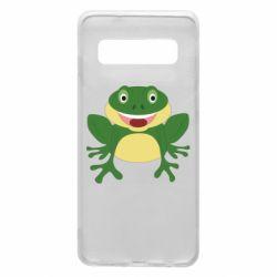 Чехол для Samsung S10 Cute toad