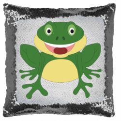 Подушка-хамелеон Cute toad