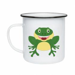 Кружка эмалированная Cute toad