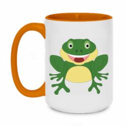 Кружка двухцветная 420ml Cute toad