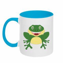 Кружка двухцветная 320ml Cute toad