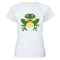 Женская спортивная футболка Cute toad