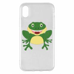 Чехол для iPhone X/Xs Cute toad