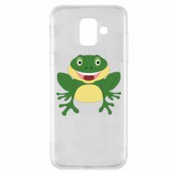Чехол для Samsung A6 2018 Cute toad