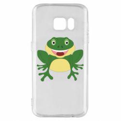 Чехол для Samsung S7 Cute toad