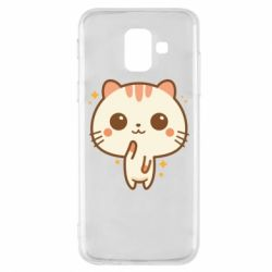 Купить Saharok, Чехол для Samsung A6 2018 Cute vector cat, FatLine