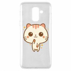 Купить Saharok, Чехол для Samsung A6+ 2018 Cute vector cat, FatLine