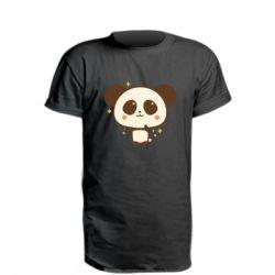 Подовжена футболка Cute vector pandochka