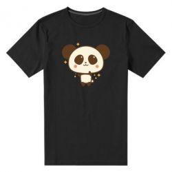 Чоловіча стрейчева футболка Cute vector pandochka