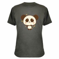 Камуфляжна футболка Cute vector pandochka