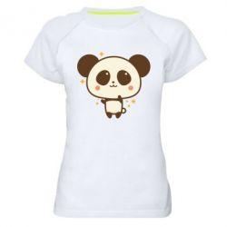 Жіноча спортивна футболка Cute vector pandochka