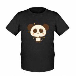 Дитяча футболка Cute vector pandochka