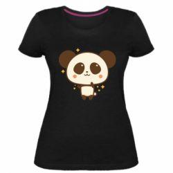 Жіноча стрейчева футболка Cute vector pandochka