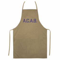 Кольоровий фартух A.C.A.B.