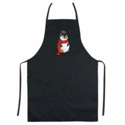 Кольоровий фартух Baby penguin with a scarf
