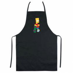 Кольоровий фартух Bart Simpson