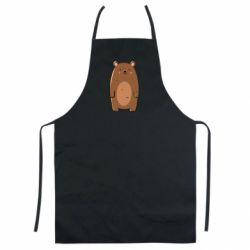 Цветной фартук Bear with a smile