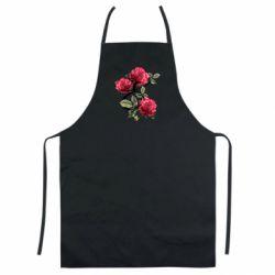 Цветной фартук Буква Е с розами