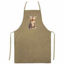 Кольоровий фартух Cute kitten vector
