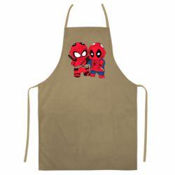 Цветной фартук Дэдпул и Человек паук