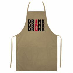Цветной фартук Drink Drank Drunk