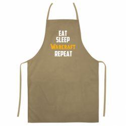 Цветной фартук Eat sleep Warcraft repeat