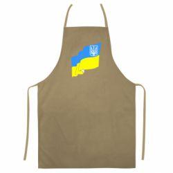 Цветной фартук Флаг Украины с Гербом