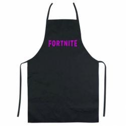 Кольоровий фартух Fortnite purple logo text