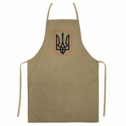 Кольоровий фартух Герб України з рамкою
