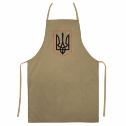 Цветной фартук Герб України з рамкою