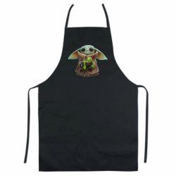 Кольоровий фартух Grogu and Kermit