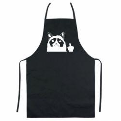 Кольоровий фартух Grumpy cat F**k Off