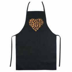 Цветной фартук Heart with leopard hair