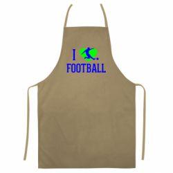 Кольоровий фартух I love football