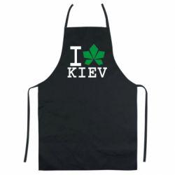 Кольоровий фартух I love Kiev - з листком