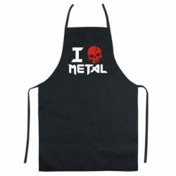 Цветной фартук I love metal